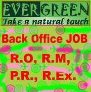Require Fresher Female as R.O., P.R.,  R.M.